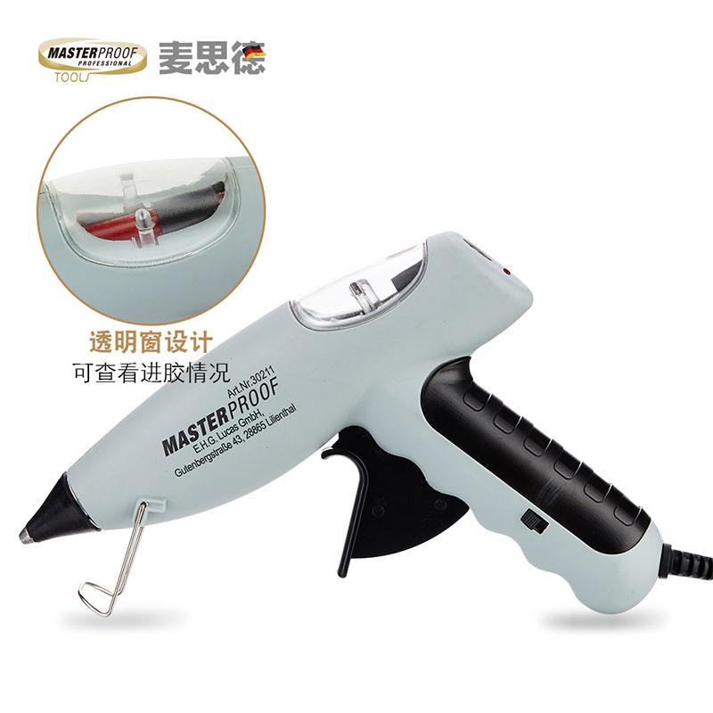 麥思德熱熔膠槍家用電熱膠diy手工熱熔槍熱容槍溶膠槍工具11MM