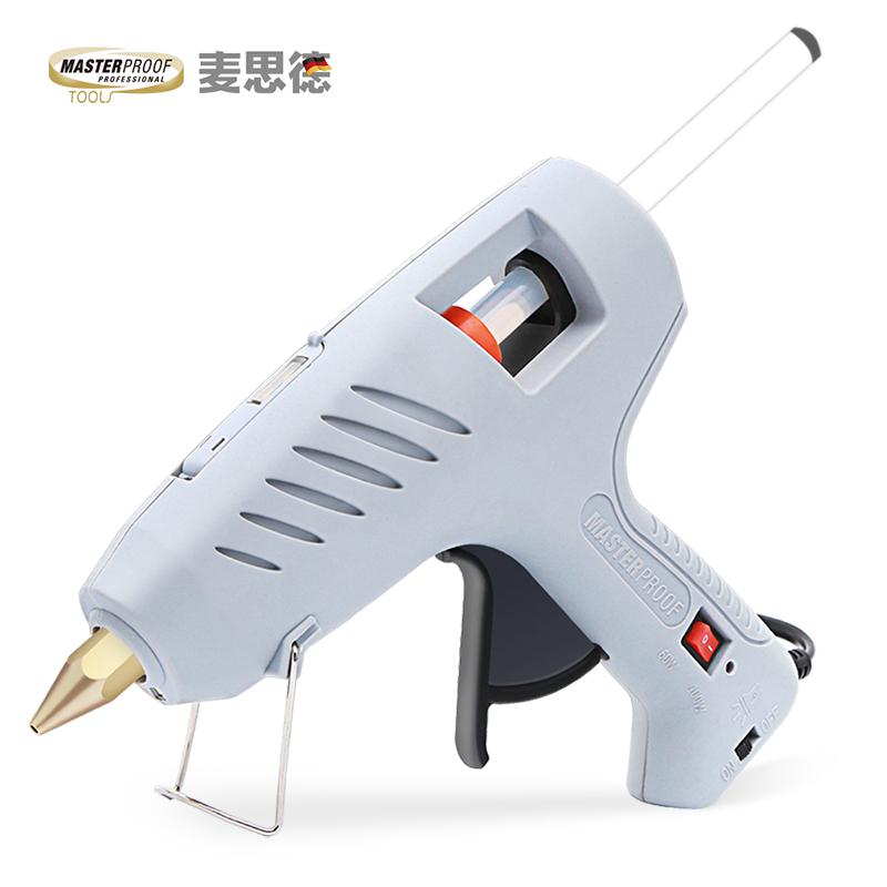 麥思德熱熔膠槍大功率60/80瓦可調節電熱膠槍熱熔機膠棒槍11mm