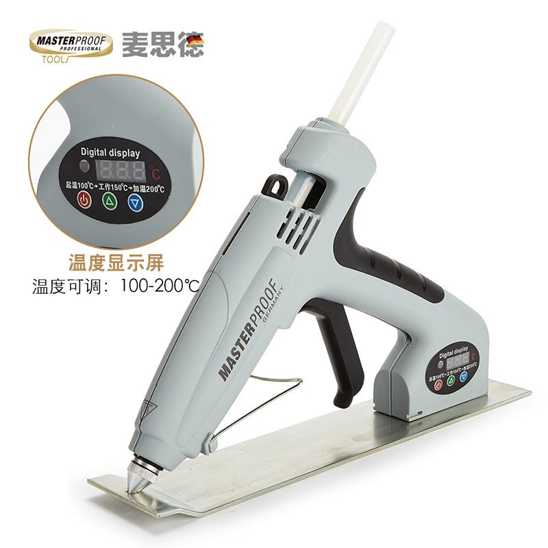 麥思德熱熔膠槍工業用電熱膠熱熔槍熱容槍溶膠槍可調功率工具11MM